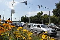 Semafor za Nuselským mostem