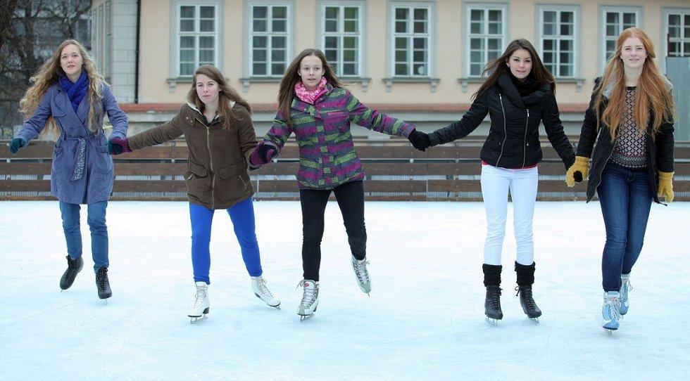 Otevření veřejného kluziště na místě původního zimního stadionu Štvanice