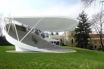Otáčivé hlediště v Lesním divadle v Krči. Alespoň takovou mají představu architekti, avšak přesné umístění hlediště je zatím v rovině diskuzí.