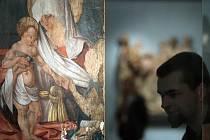 Expozici gotického umění doplnily dva restaurované obrazy