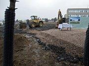 Stavba nového zimního stadionu ve Strašnicích