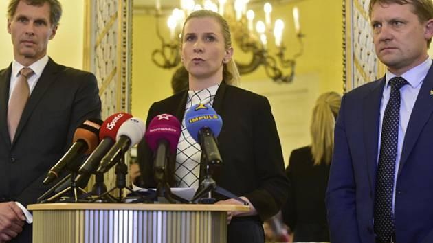 Jiří Kejval, Kateřina Valachová a Martin Doktor.
