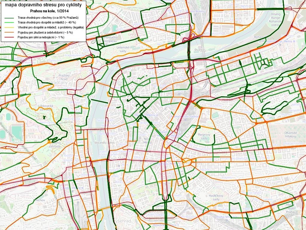 Jak Projet Prahou Bezpecne Na Kole Radi Specialni Mapa Prazsky