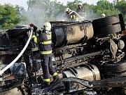 Nehoda kamionu na Jižní spojce.