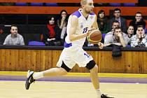 Kapitán basketbalistů USK Praha Michal Vocetka.