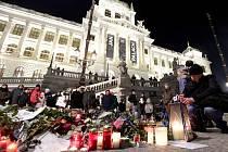 Pietní akt v den 50. výročí úmrtí Jana Palacha v Praze.