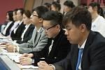 Slavnostní přivítání čínských studentů na VŠFS.