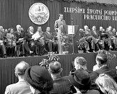 Slavnost přejmenování plynárny v Michli na plynárnu Klementa Gottwalda se konala v pátek 30. dubna 1948. Řečnil tehdejší ministr sociální péče Evžen Erban.