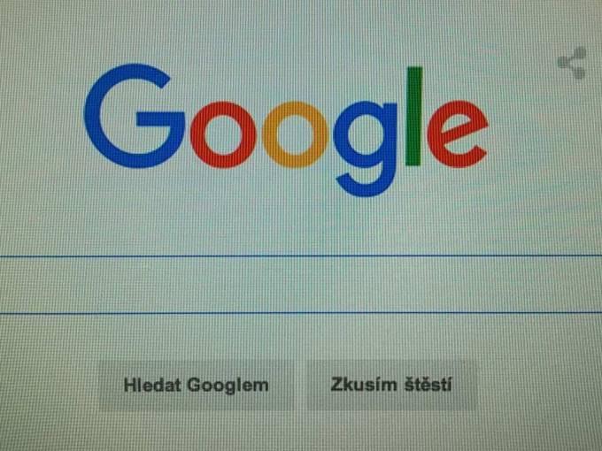 Vyhledávač Google. Ilustrační foto.