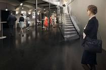 Jak bude vypadat budoucí foyer divadla s kavárnou. Vizualizace