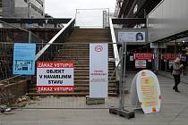 Uzavření průchodu pasáže Budějovická.