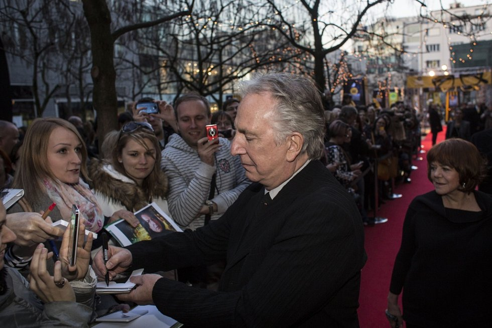 Ze zahájení 22. ročníku Mezinárodního filmového festivalu Praha - Febiofest. Na snímku britský herec a režisér Alan Rickman.