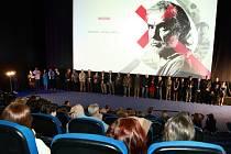 Z premiéry českého detektivního thrilleru Rudý kapitán v kině Cinema na Andělu v Praze.