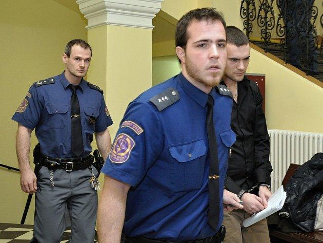 Obžalovaný Marek Půček u Obvodního soudu pro Prahu 2.