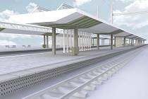 Nová podoba stanice Zahradní Město.
