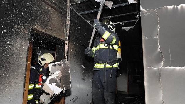 Požár v Řeporyjích.