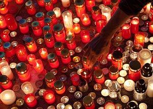 Výroční 17.listopadu v Praze na Národní třídě a Václavském náměstí