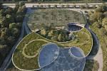 Botanická zahrada - vítězný návrh architektonické soutěže - vstup od Bohnic.