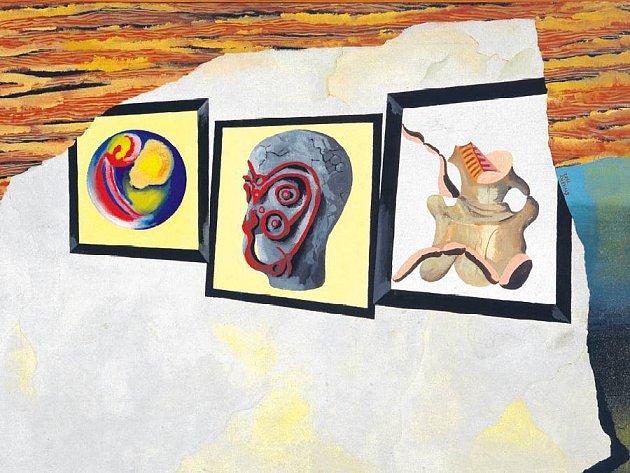 "ŠTYRSKÉHO FANTAZIE. Obraz ""VI"" (1932) je ryzí surrealismus."