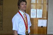 Vítěz mezinárodní chemické olympiády v Ankaře František Petrouš.