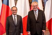 Návštěva francouzského prezidenta v Praze.