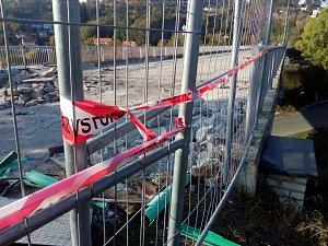 Rekonstrukce mostu v obci Davle