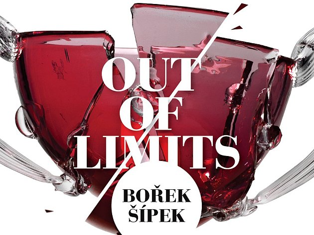 Část grafické pozvánky na retrospektivní výstavu českého výtvarníka a designéra Bořka Šípka s názvem Out Of Limits v Tančícím domě v Praze.