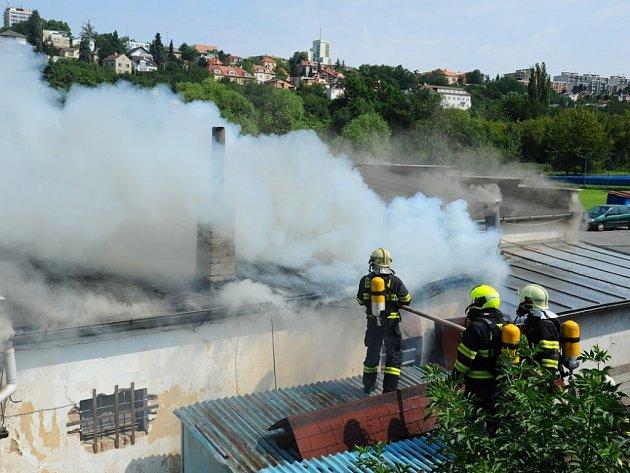 Požár v restauraci v Bráníku.
