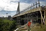 Lanový most na Jižní spojce.