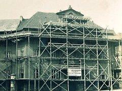 Klementinum v Praze v době první etapy přestavby v letech 1924 a 1925.