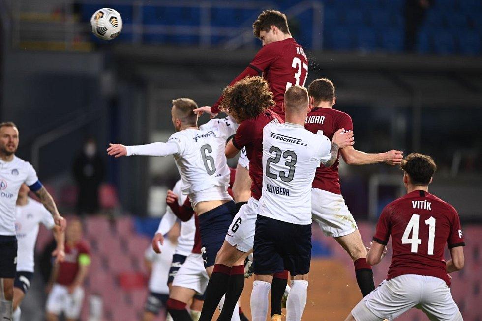 Utkání 27. kola první fotbalové ligy: AC Sparta Praha - 1. FC Slovácko, 18. dubna 2021 v Praze.