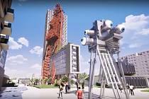 Nejvyšší budovu v Česku s názvem Top Tower (na vizualizaci) chce postavit developerská společnost Trigema v Nových Butovicích v Praze.