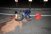 Havárie motorky.