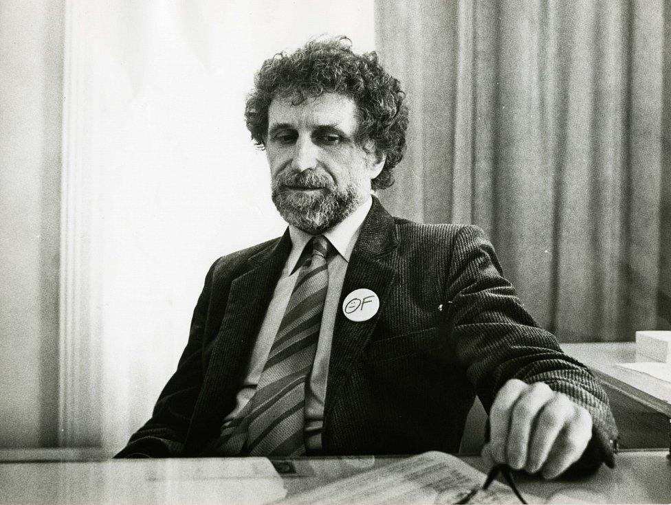 Ivan Havel v časech Občanského fora, začátek 90. let.