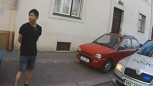 Dopadený násilník v Praze