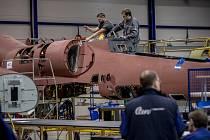 Výrobní linka pro výrobu letounu L-39NG, Aero Vodochody.