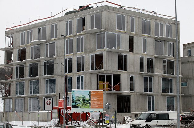 Výstavba nových bytů.