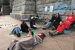 Akce Duše v ulicích poukazovala na psychické problémy žen bez domova.