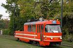 Mazací tramvaj.