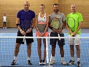 Tenisová exhibice na slavnostním otevření tenisové haly v Praze - Motole, Karolína Plíšková s Janem Kollerem porazila Bohdana Ulihracha s Patrikem Bergrem.