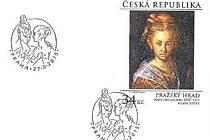 Známka Pražský hrad: Hans von Aachen – Hlava dívky.