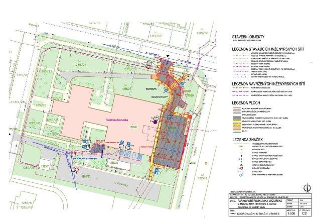 Parkoviště poliklinika Mazurská - koordinační studie