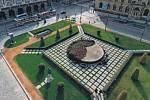 Vizualizace úpravy náměstí Jana Palacha v Praze.