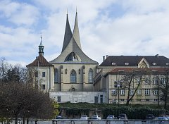 Architekt František Maria Černý, věže Emauzského kláštera (Emauzy)