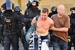 Policie zasáhla proti příznivcům Baníku Ostrava, kteří po utkání na Spartě napadli pořadatele.