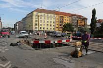 Pohled na Basilejské náměstí.