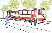 O zapomenutém medvídkovi. Jedna z ilustrací Janise Mahbouliho v knize Pohádky z nádraží.