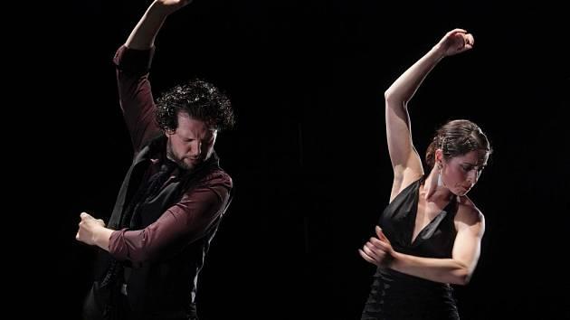 Tanečnice a učitelka flamenka Jana Drdácká s Eduardem Zubákem.