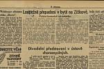 Takto informovaly o skandálu kolem libreta Národní listy z 18. prosince 1934.