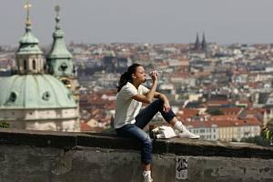 Letní počasí v Praze. Ilustrační foto.
